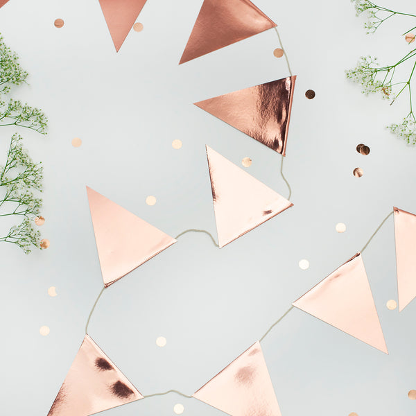 Rose Gold Pennant Flag Bunting