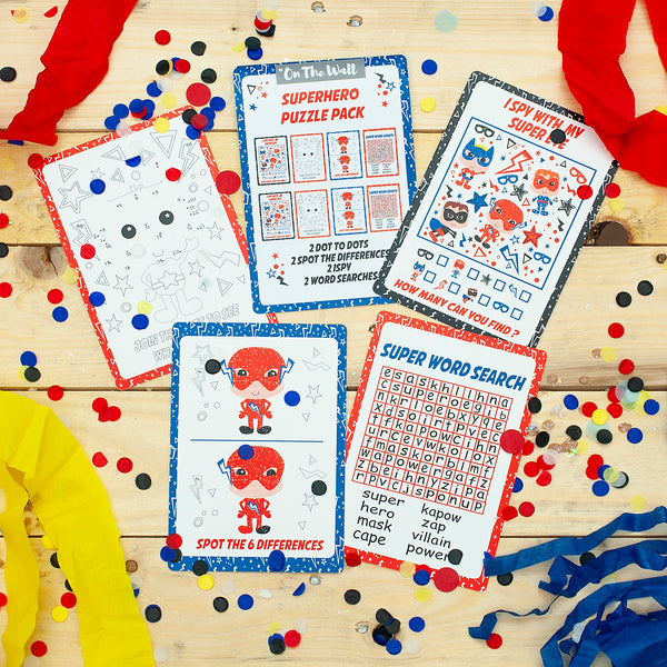 Superhero Game Card Booklets