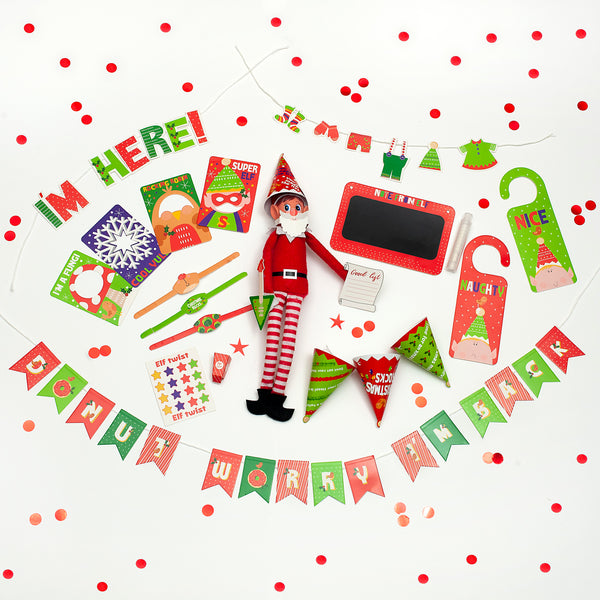 Mini Christmas Elf Photo Prop Accessory Kit
