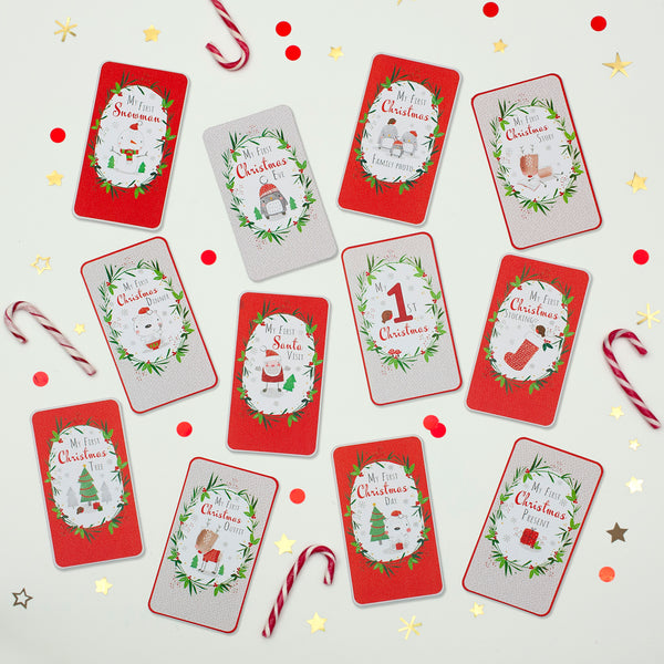 Baby's First Christmas - Milestone Age Cards