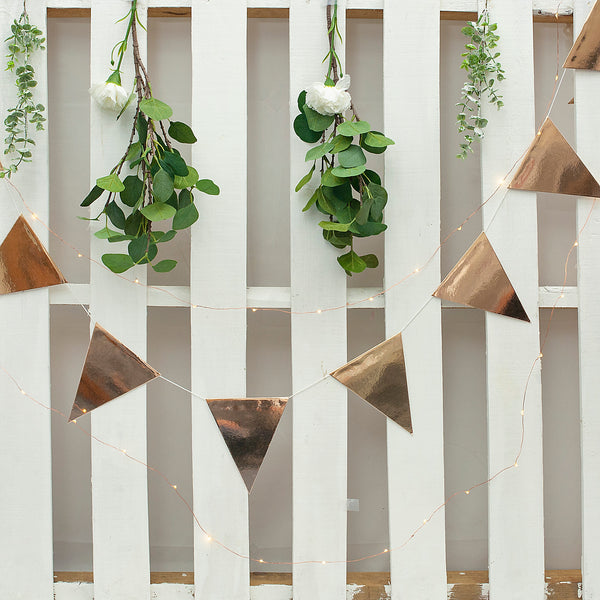 Champagne Gold Pennant Bunting