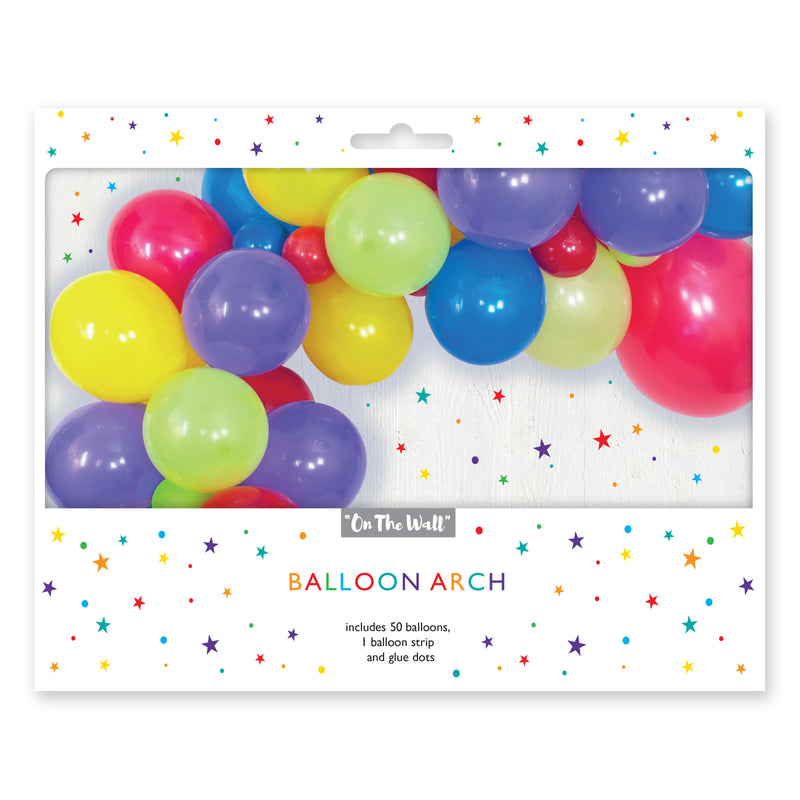 Multicoloured Balloon Arch