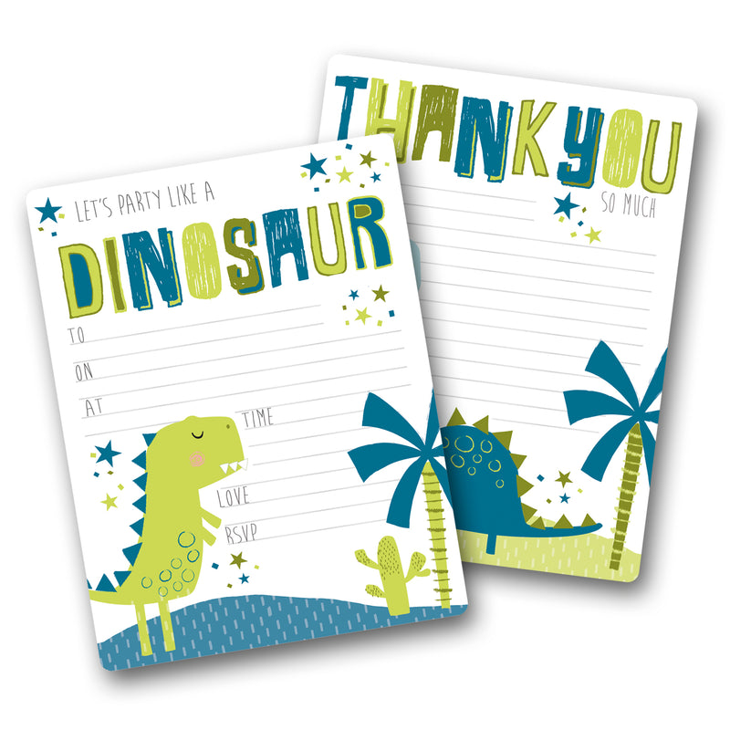 Dinosaur Party Invites & Thank You Notes