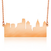 Custom City Skyline Necklace in Rose Gold Filled