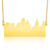 Custom City Skyline Necklace in Gold Filled
