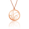Custom Small Round Pendant Cut Out Map in Rose Gold Filled