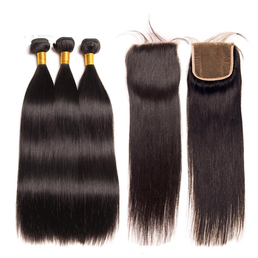 Indian Hair Weave Bundles With Closure Indian Hair 4 Less