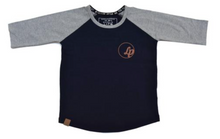 Baseball Tee Navy/Gray
