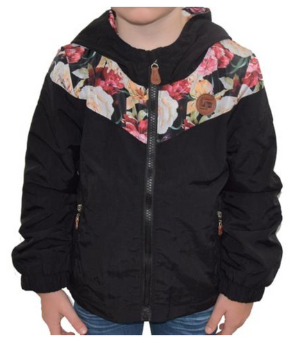 Lined Black & Flower Jacket
