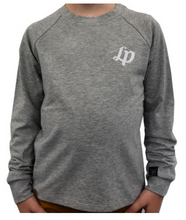 Long Sleeve Shirt Grey w/White Lettering