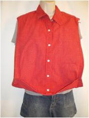 Male Style Shirt: Red Plaid