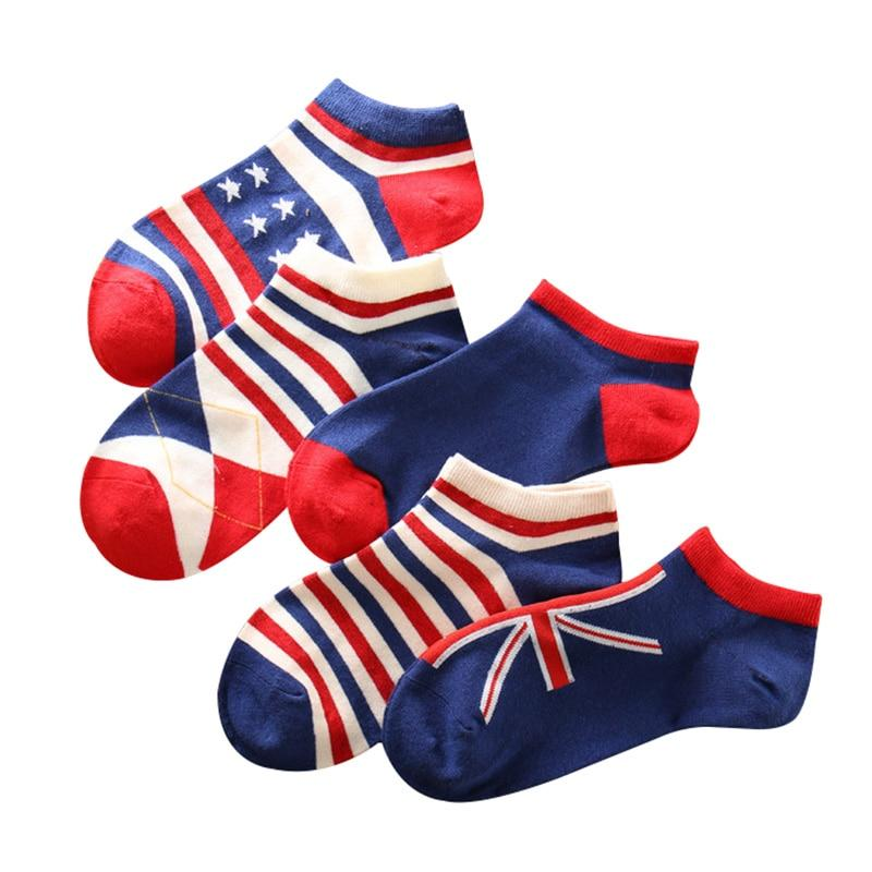 5 Pair Flag Socks chrynne.com Men's Socks 15.99
