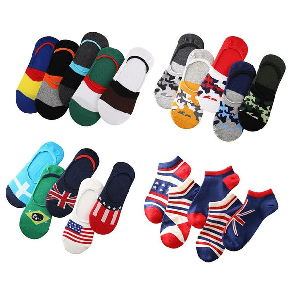5 Pair Flag Socks chrynne.com Men's Socks 9.99