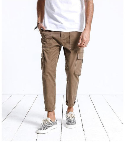 Ankle-Length Cargo Pants chrynne.com Men's Pants 44.99