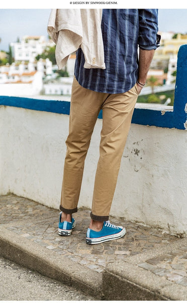 Ankle-Length Pencil Chinos chrynne.com Men's Pants 47.99