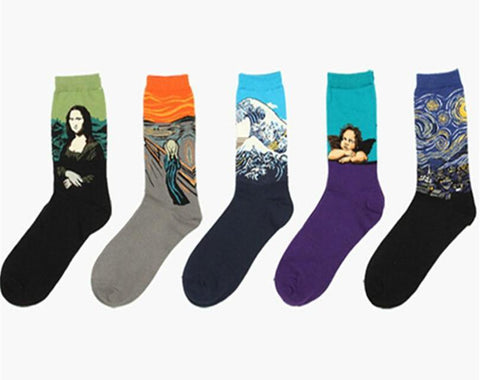 Art Cotton Socks chrynne.com Men's Socks 3.99