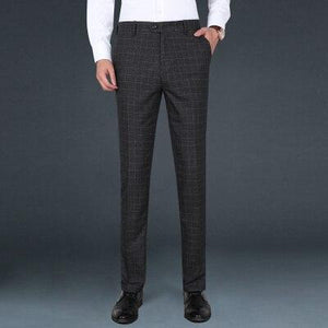 Black Formal Plaid Trousers chrynne.com Men's Pants 60.99