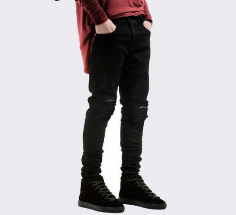Black Ripped Jeans For Men chrynne.com Men's Pants 29.99