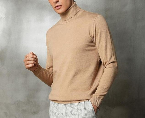 Cashmere Wool Turtleneck chrynne.com Men's T-shirts 37.99