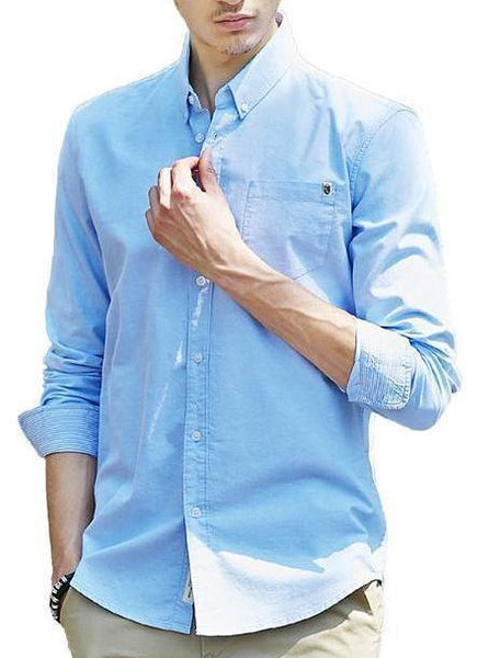Casual Solid Cotton Shirts chrynne.com Men's Shirts 59.99