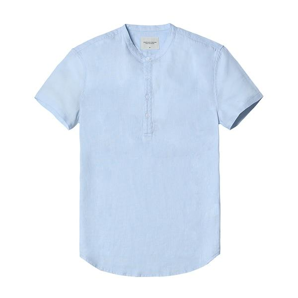 Collarless Linen Shirts chrynne.com Men's Shirts 48.99