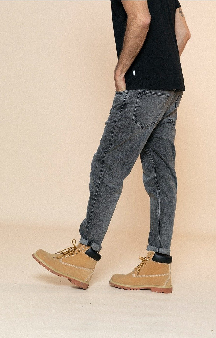 Comfortable Tapered Jeans Denim chrynne.com Men's Pants 58.99