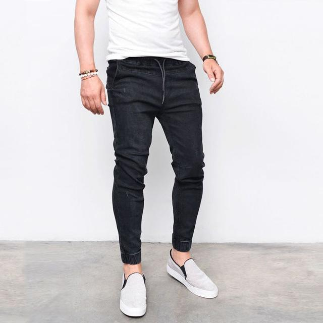 Elastic Jeans Jogger Pants chrynne.com Men's Pants 37.99