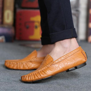 Genuine Leather Flat Boat Shoes chrynne.com Men's Shoes 38.99