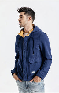 Hooded Pocket Jacket chrynne.com Men's Jackets 65.99