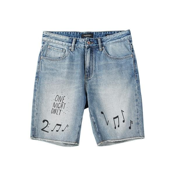 Musical Notes Print Shorts chrynne.com Men's Shorts 50.99