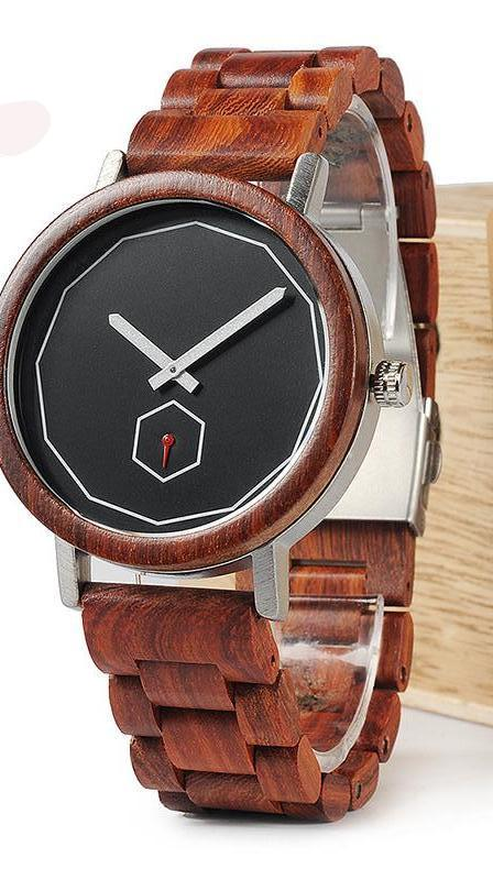 Red Wood Gift Watch chrynne.com Men's Accessories 46.99