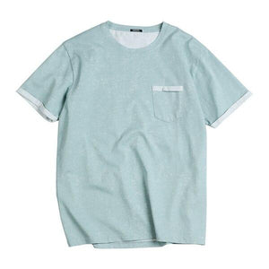 Short Sleeve Chest Pocket chrynne.com Men's T-shirts 17.99