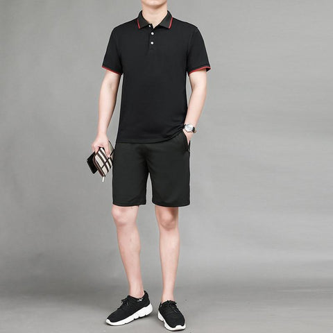 Shorts+Polo Set chrynne.com Men's Suits 21.99