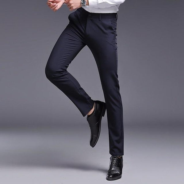 Slim Fit Formal Pants chrynne.com Men's Pants 54.99