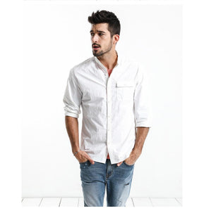 Slim Fit Nylon Shirt chrynne.com Men's Shirts 58.99