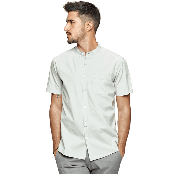 Stand Collar Leisure Shirt chrynne.com Men's Shirts 42.99