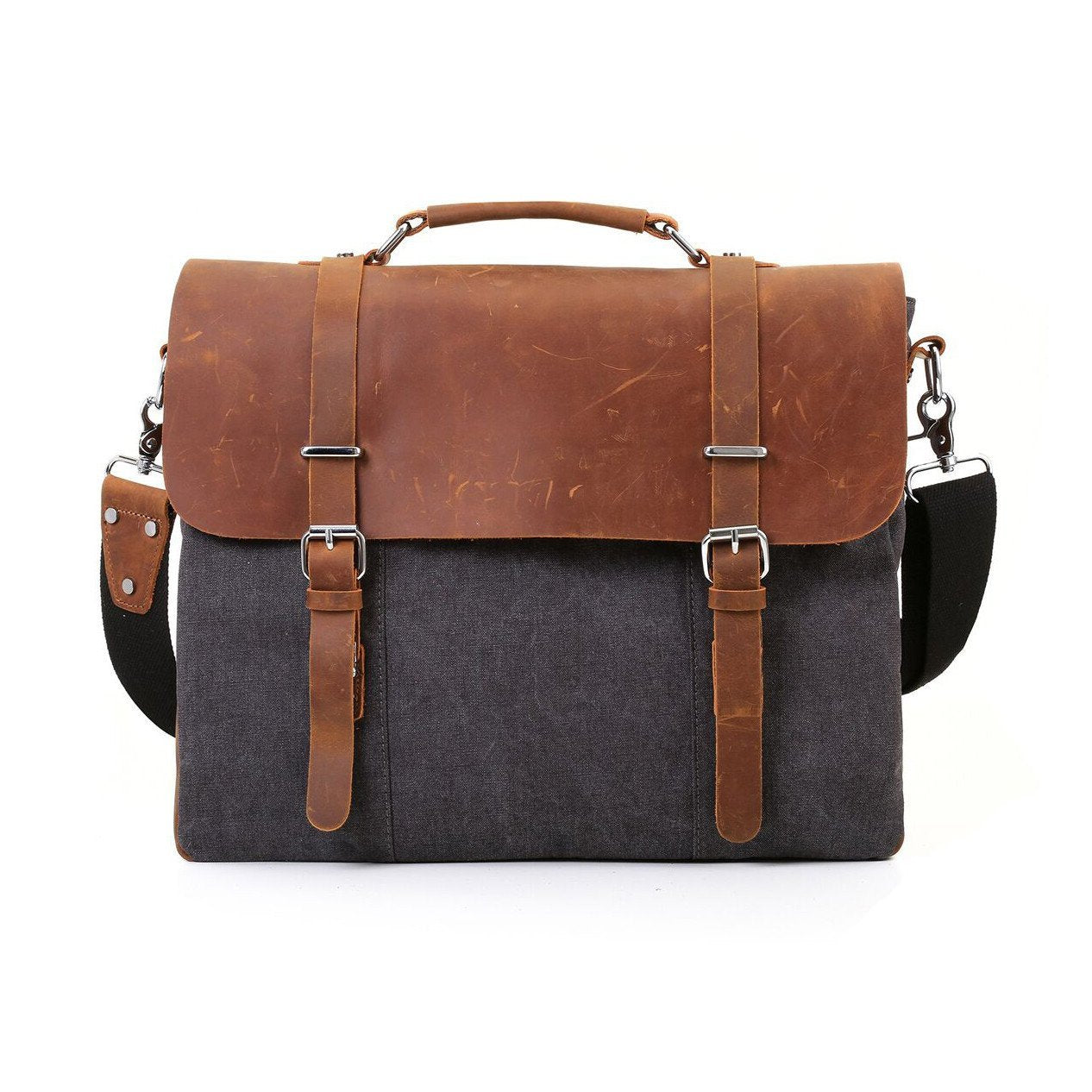 Vintage Canvas Leather Briefcase chrynne.com Men's Bags 136.20
