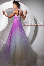 Load image into Gallery viewer, Tony Bowls Paris Ombre Chiffon Gown 113714 Lavender Ombre