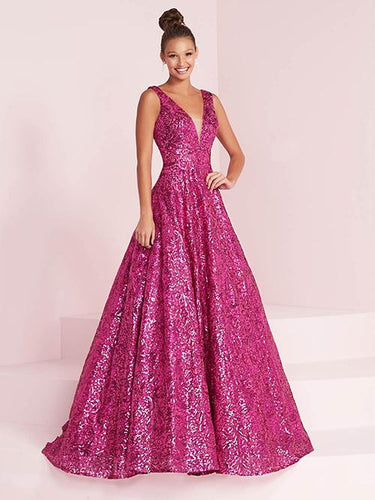 Panoply Sequin A-Line Ballgown 14034