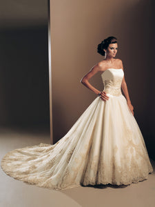 Mon Cheri Wedding Gown Victoria 16202 Spun Gold