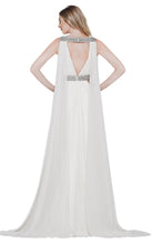 Load image into Gallery viewer, Colors Dress Flowly Chiffon Cape Gown 2083 Off White
