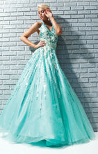 Load image into Gallery viewer, Tony Bowls Ballgown Prom Dress 113539 Aqua