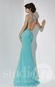 Studio 17 Jersey Backless Prom Dress 12587 Jade