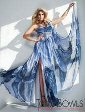 Load image into Gallery viewer, Tony Bowls Evenings Prom Dress TBE21129 Blue Multi