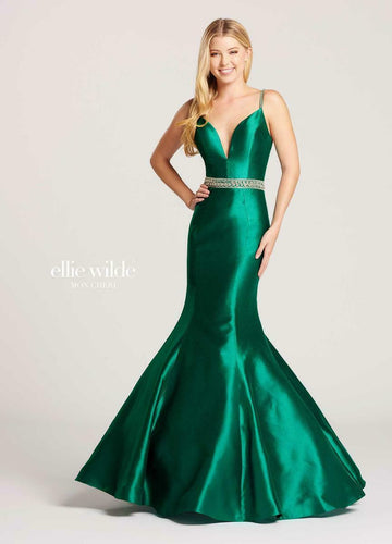 Ellie Wilde Grad Prom Dress EW118084 Emerald