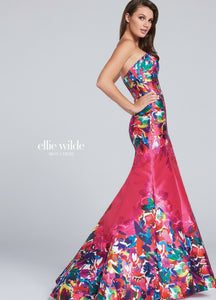 Ellie Wilde Grad Prom Dress EW117002 Hot Pink/Multi