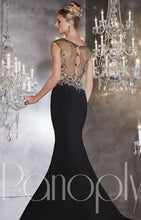 Load image into Gallery viewer, Panoply Rhinestone Fit and Flare Prom Dress 14734 Carnival