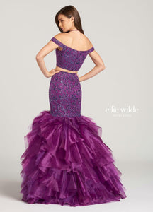 Ellie Wilde Grad Prom Dress EW118107 Purple