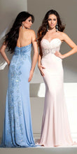 Load image into Gallery viewer, Tony Bowls Evenings Butterfly Prom Dress TBE11542 Perwinkle Blue Multi