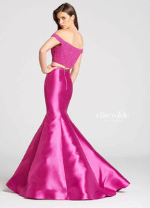 Ellie Wilde Grad Prom Dress EW118037 Magenta